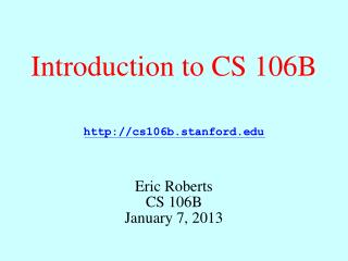 Introduction to CS 106B