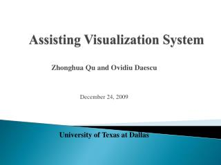 Assisting Visualization System