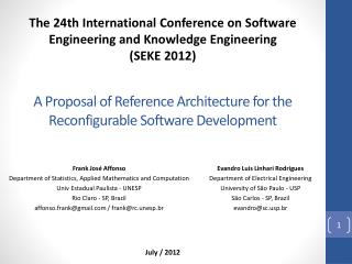 A Proposal of Reference Architecture for the Reconfigurable Software Development