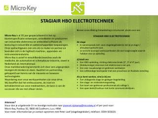 STAGIAIR HBO ELECTROTECHNIEK