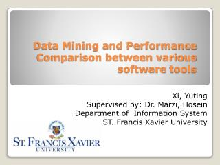 Data Mining and Performance Comparison between various  software  tools