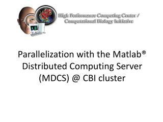 Parallelization with the Matlab® Distributed Computing Server  (MDCS) @ CBI cluster