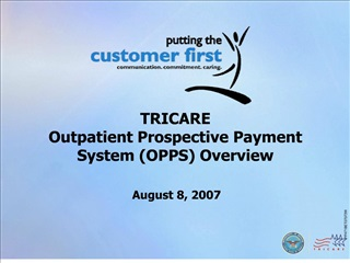 tricare  outpatient prospective payment system opps overview