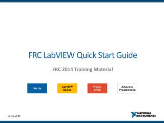FRC LabVIEW Quick Start Guide
