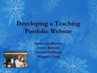Developing a Teaching  Portfolio Website