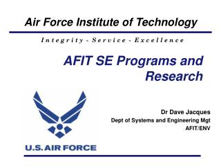 AFIT SE Programs and Research