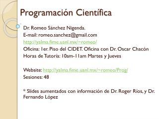 Programación Científica
