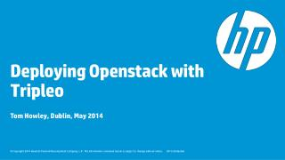 Deploying  Openstack  with  Tripleo