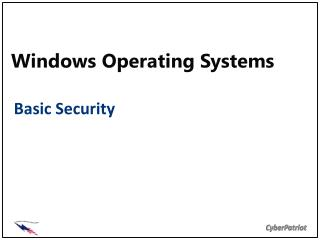 Windows Operating Systems