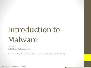 Introduction to Malware