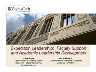 Expedition Leadership:   Faculty Support and Academic Leadership Development