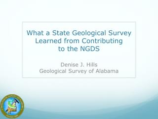 What a State Geological Survey Learned from Contributing  to  the  NGDS