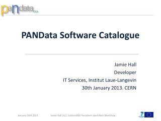PANData  Software Catalogue