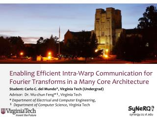 Enabling Efficient Intra-Warp Communication for Fourier Transforms in a Many Core Architecture