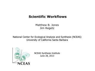 Scientific Workflows