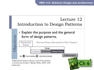 Lecture 12 Introduction  to Design Patterns