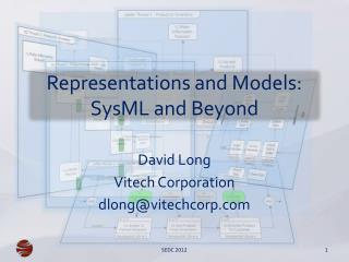 Representations and Models:  SysML  and Beyond