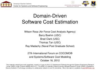 Domain-Driven Software Cost Estimation