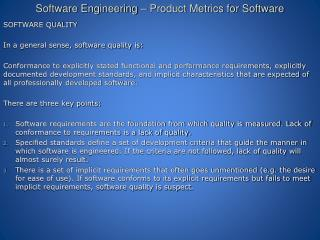 Software Engineering – Product Metrics for Software