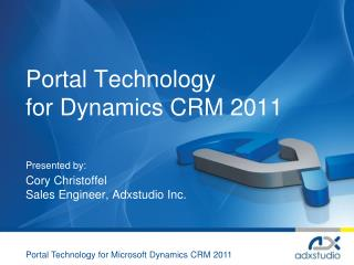 Portal Technology for Dynamics CRM 2011