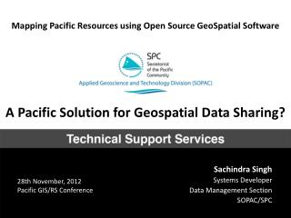 Mapping Pacific Resources using Open Source GeoSpatial Software