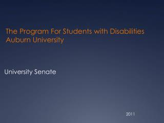 The Program For Students with Disabilities Auburn University