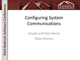 Configuring System Communications