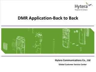 DMR  Application-Back to Back