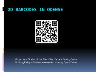 2D Barcodes in Odense