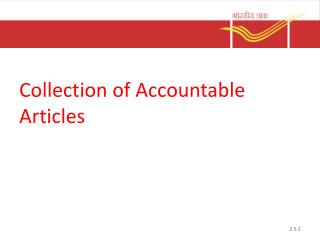 Collection of Accountable Articles