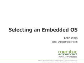Selecting an Embedded OS