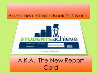 Assessment Grade Book Software