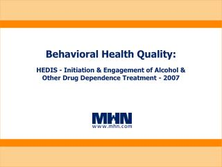 behavioral health quality: