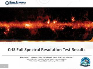 CrIS  Full Spectral Resolution Test Results