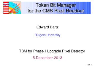 Token Bit Manager  for the CMS Pixel Readout