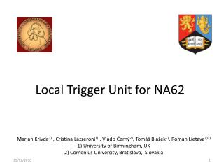 Local Trigger Unit for NA62