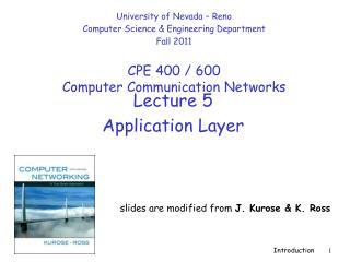 Lecture  5 Application Layer