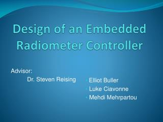Design of an Embedded Radiometer Controller