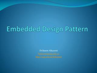 Embedded Design Pattern