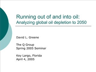 running out of and into oil: analyzing global oil depletion to 2050