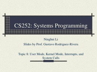 CS252: Systems Programming