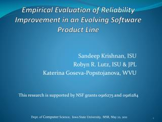 Empirical Evaluation of Reliability Improvement in an Evolving Software Product Line