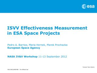 ISVV Effectiveness Measurement in ESA Space Projects