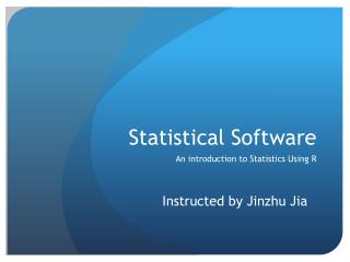 Statistical Software