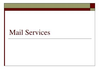 Mail Services