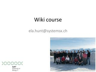 Wiki  course