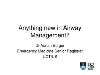 anything new in airway management