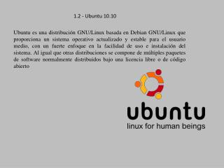 1.2 - Ubuntu 10.10
