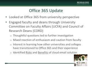 Office 365 Update