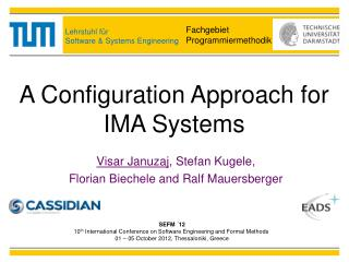 A Configuration Approach for IMA Systems